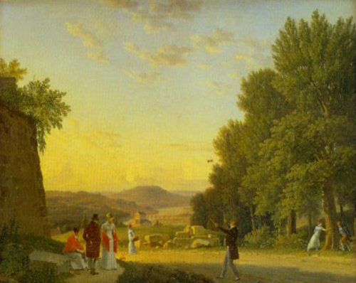 View from the Chateau Meudon 1813   C.w.Eckersberg   Oil Painting