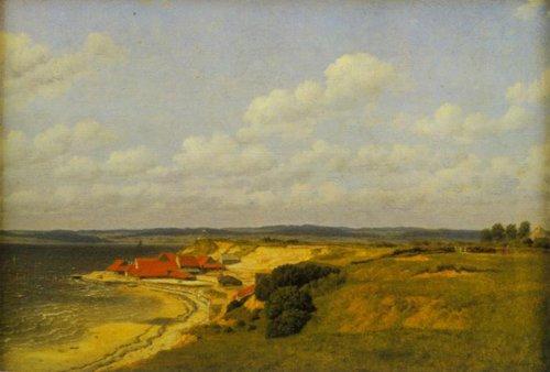 View of the Tile Works at Renbjerg 1830   C.w.Eckersberg   Oil Painting