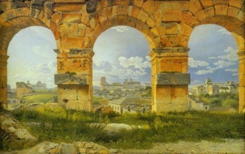 View through Three of the Northwestern Arches of the Third Storey of the Colosseum 1815 16   C.w.Eckersberg   Oil Painting