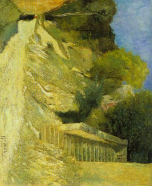 Steps in Montigny sur Loing 1876   Carl Fredrik Hill   Oil Painting