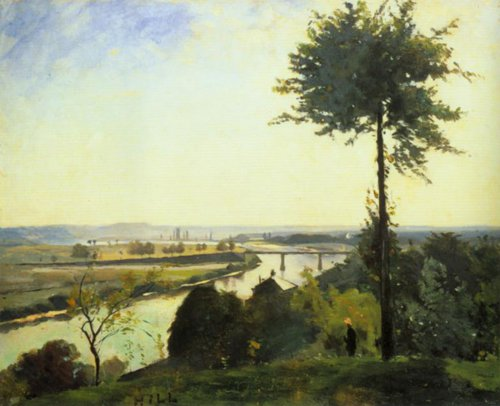 The Tree and the River 111 1877   Carl Fredrik Hill   Oil Painting