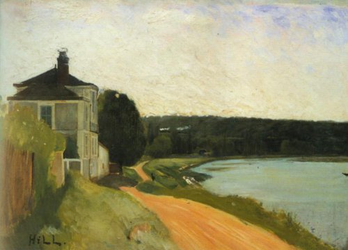 Villa by the Seine 1877   Carl Fredrik Hill   Oil Painting