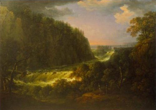 The Waterfall at Trollhattan 1828   Carl Johan Fahlcrantz   Oil Painting