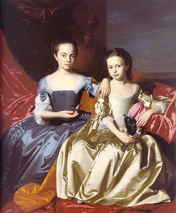 Mary And Elizabeth Royall 1758 | John Singleton Copley | Oil Painting