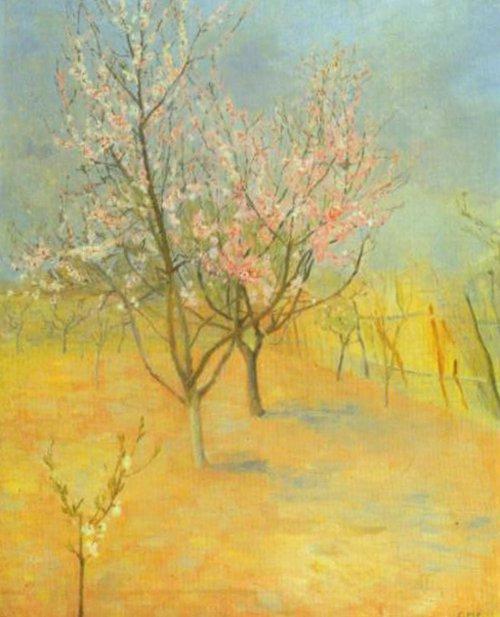 Flowering Peach Teee 1888 | Christian Mourier Petersen | Oil Painting