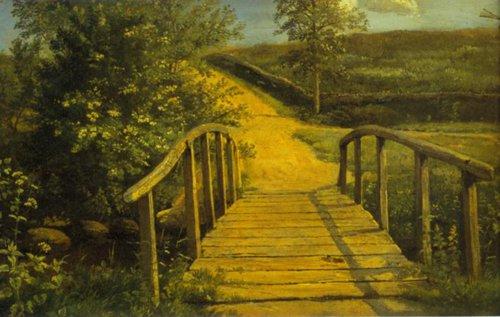 Bridge over a Stream in Assens Funen 1842 | Dankvart Dreyer | Oil Painting