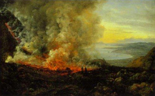 Eruption of Vesuvius 24 December 1820 | J.C.Dahl | Oil Painting