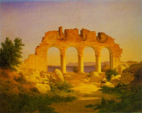 Cathedral Ruin at Hammar 1843 | Joachim Frich | Oil Painting