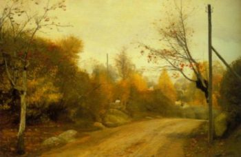 Country Road at Mogenstrup Autumn 1888 | L.A.Ring | Oil Painting