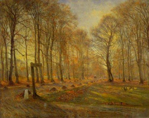 Autumn in Dyrehaven 1886 | Theodor Philipsen | Oil Painting