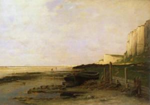 Chalk Cliffs in Normandy 1878 | Wilhelm von Gegerfelt | Oil Painting