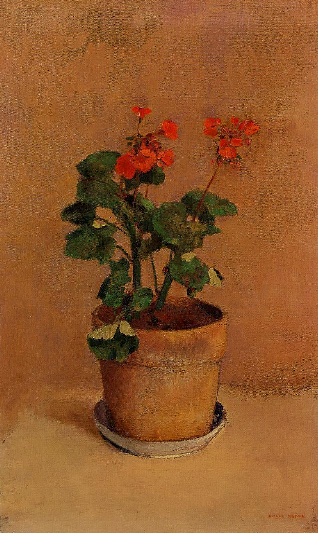 A Pot of Geraniums 1905 | Odilon Redon | Oil Painting