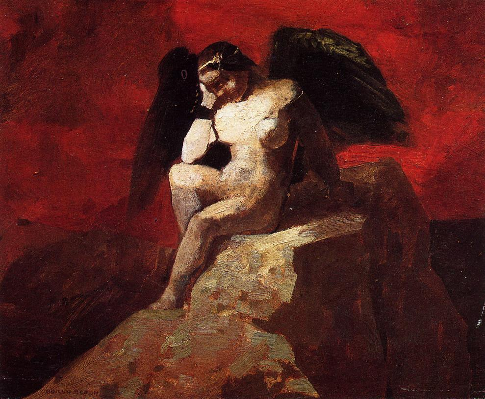 Angel in Chains 1875 | Odilon Redon | Oil Painting