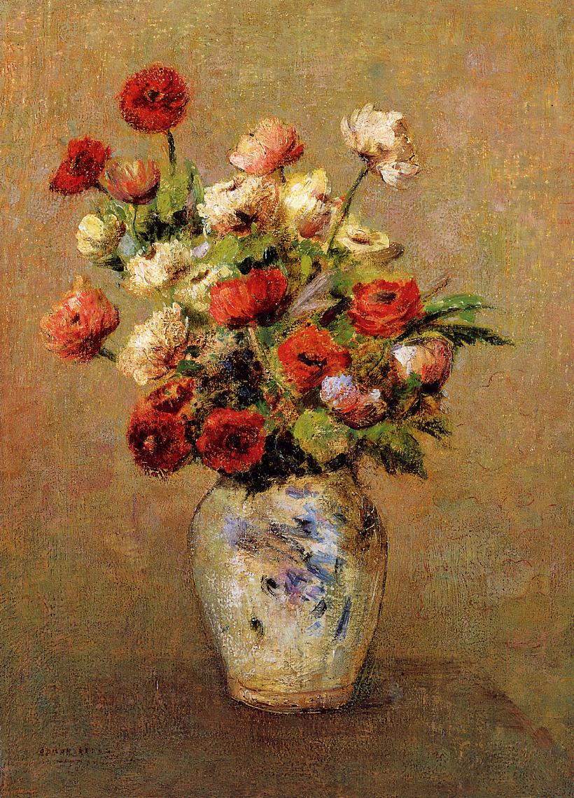 Bouquet of Flowers 1900 | Odilon Redon | Oil Painting