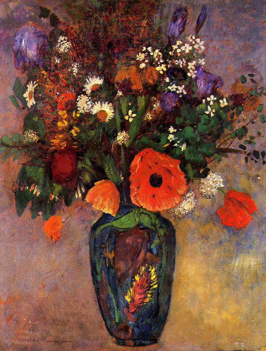 Bouquet of Flowers on a Vase   Odilon Redon   Oil Painting