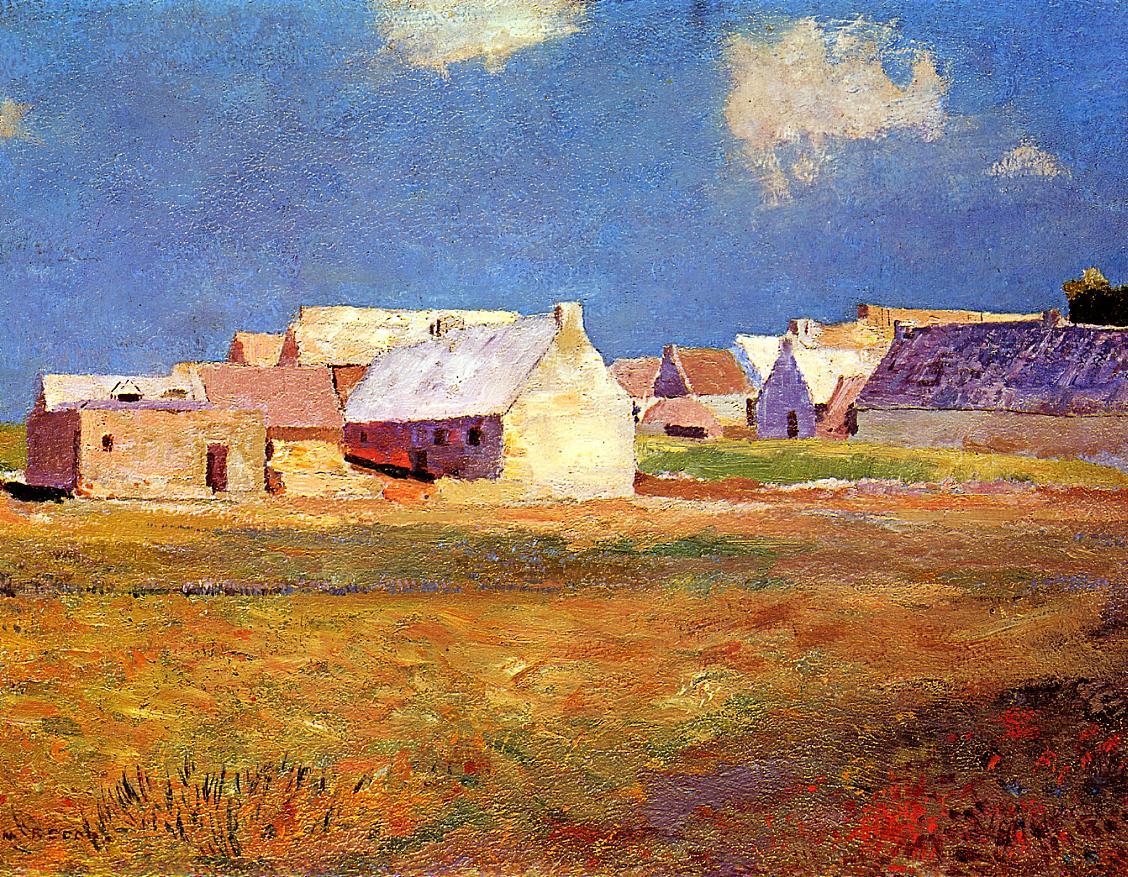 Breton Village 1890   Odilon Redon   Oil Painting