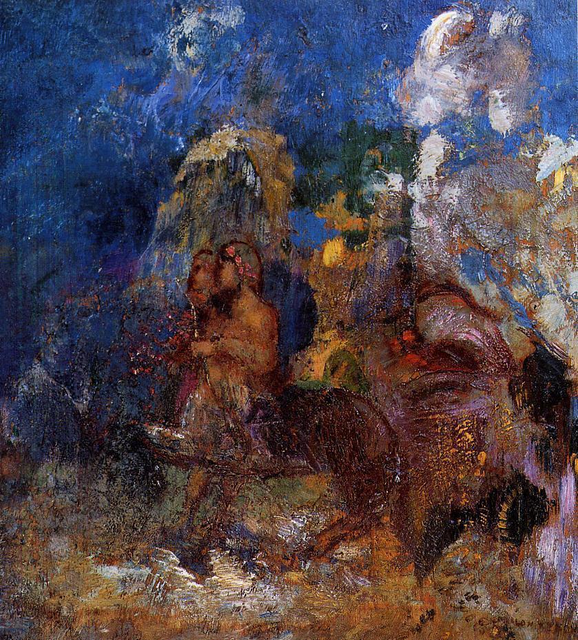 Centaurs 1910   Odilon Redon   Oil Painting