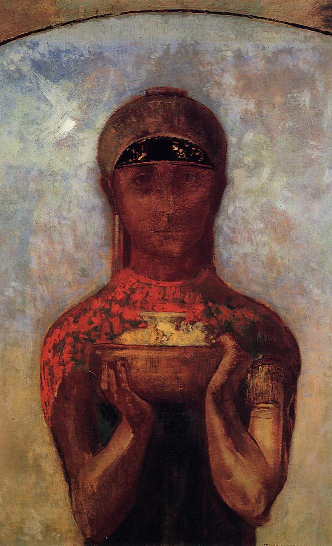 Chalice of Mystery 1890   Odilon Redon   Oil Painting
