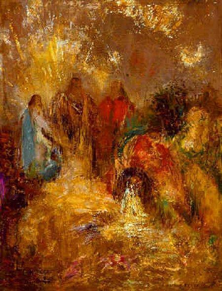 Christ and His Desciples   Odilon Redon   Oil Painting
