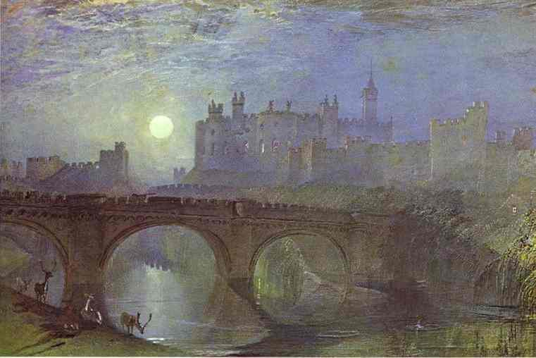 Alnwick Castle Northumberland 1825-1828 | Joseph Mallord William Turner | Oil Painting