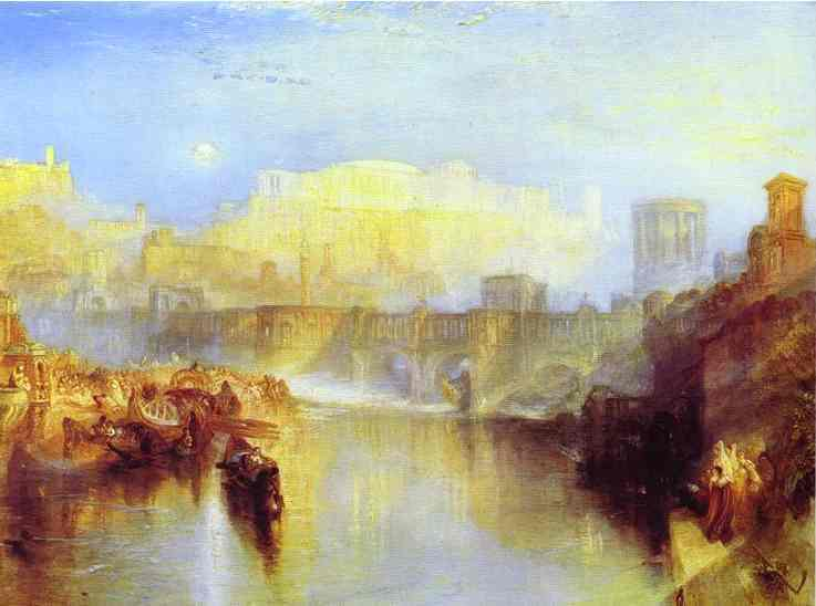 Ancient Rome Agrippina Landing With The Ashes Of Germanicus 1839 | Joseph Mallord William Turner | Oil Painting