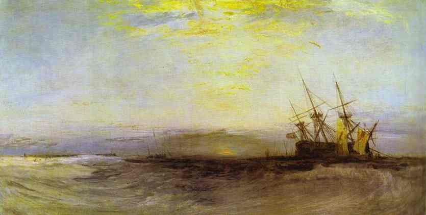 A Ship Aground 1828 | Joseph Mallord William Turner | Oil Painting