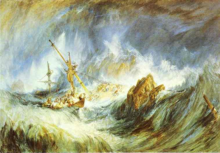 A Storm (Shipwreck) 1823 | Joseph Mallord William Turner | Oil Painting
