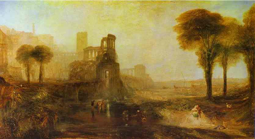 Caligulas Palace And Bridge 1831 | Joseph Mallord William Turner | Oil Painting