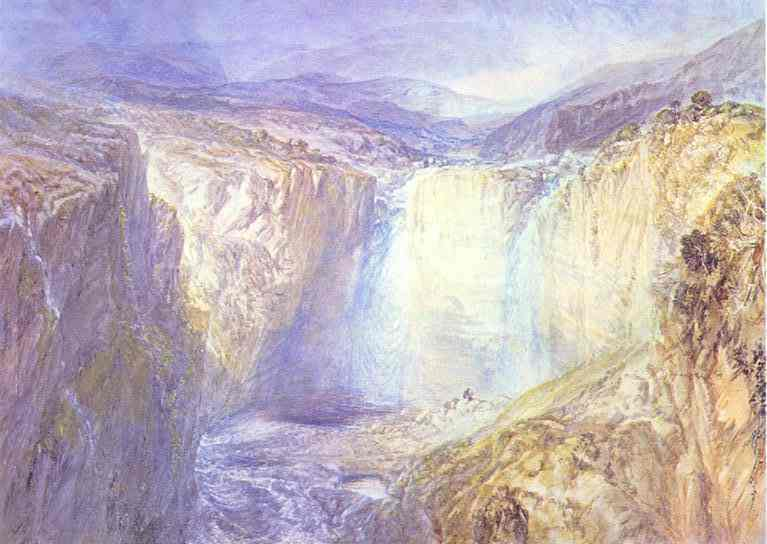 Fall Of The Tees Yorkshire 1825-1826 | Joseph Mallord William Turner | Oil Painting