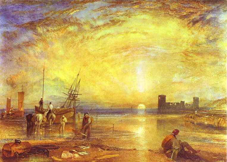 Flint Castle 1838 | Joseph Mallord William Turner | Oil Painting