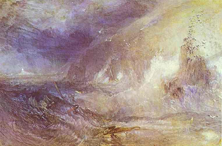 Longships Lighthouse Lands End 1834-1835 | Joseph Mallord William Turner | Oil Painting