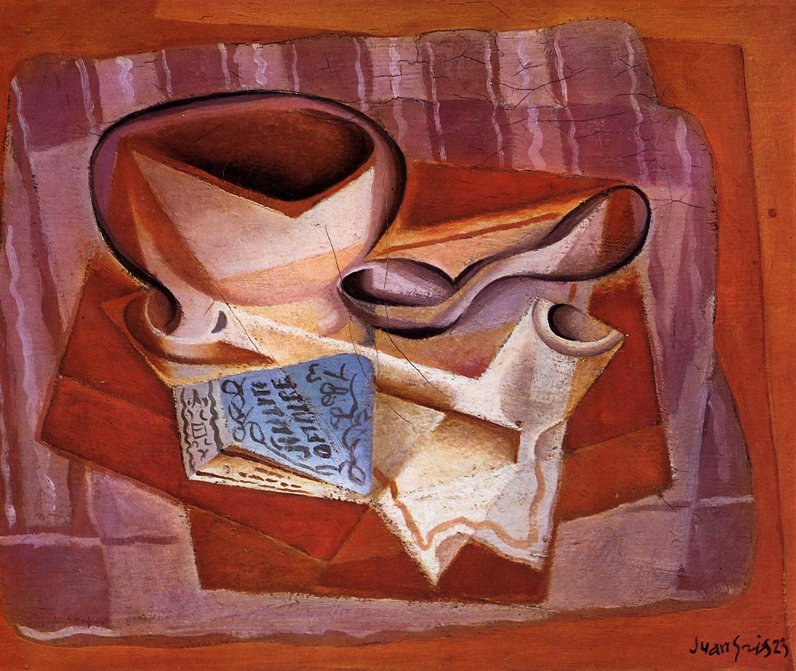 Bowl Book and Spoon 1923 | Juan Gris | Oil Painting