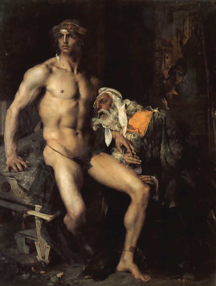 Achilles and Priam | Jules Bastien Lepage | Oil Painting