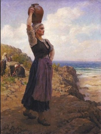 A la fontaine | Jules Breton | Oil Painting
