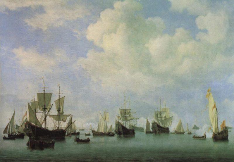 The Dutch Fleet In The Goeree Roads | Willem Van De Velde Ii | Oil Painting
