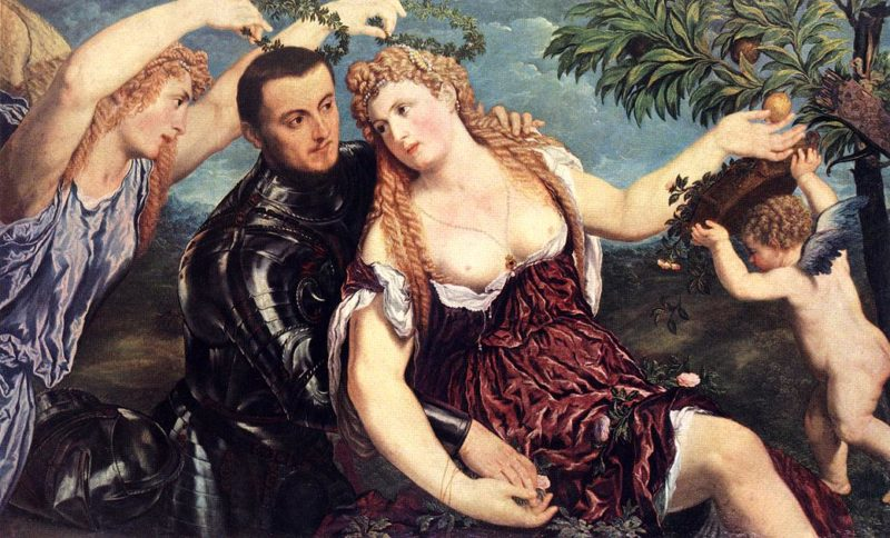 Allegory With Lovers 1550   Paris Bordone   Oil Painting