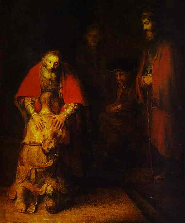 The Return Of The Prodigal Son 1668 69 | Rembrandt | Oil Painting