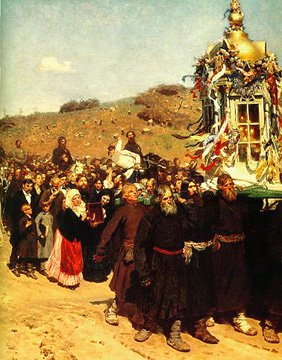 Detail of Easter Procession in Kursk 1880-1883 | Ilya Repin 1844-1930 | Oil Painting