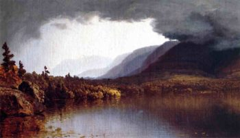 A Coming Storm on Lake George 1863 | Sanford Robinson Gifford | Oil Painting