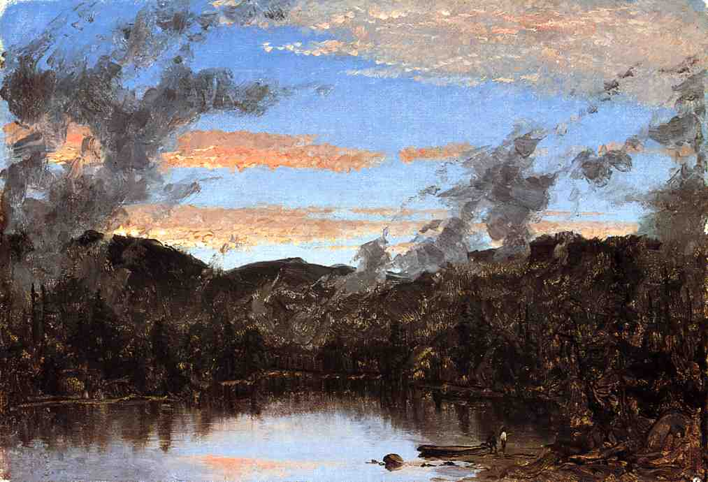 A Mist Rising at Sunset in the Catskills 1861 | Sanford Robinson Gifford | Oil Painting