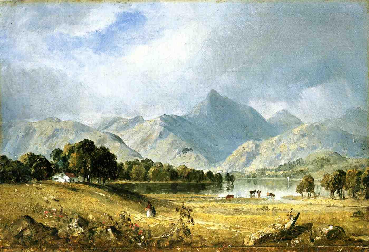 A Sketch of Derwentwater 1855 | Sanford Robinson Gifford | Oil Painting