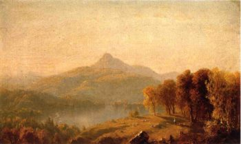 A Sketch of Mount Chocorua 1854 1863 | Sanford Robinson Gifford | Oil Painting