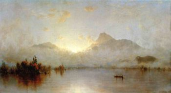 A Sunrise on Lake George 1877 1879 | Sanford Robinson Gifford | Oil Painting