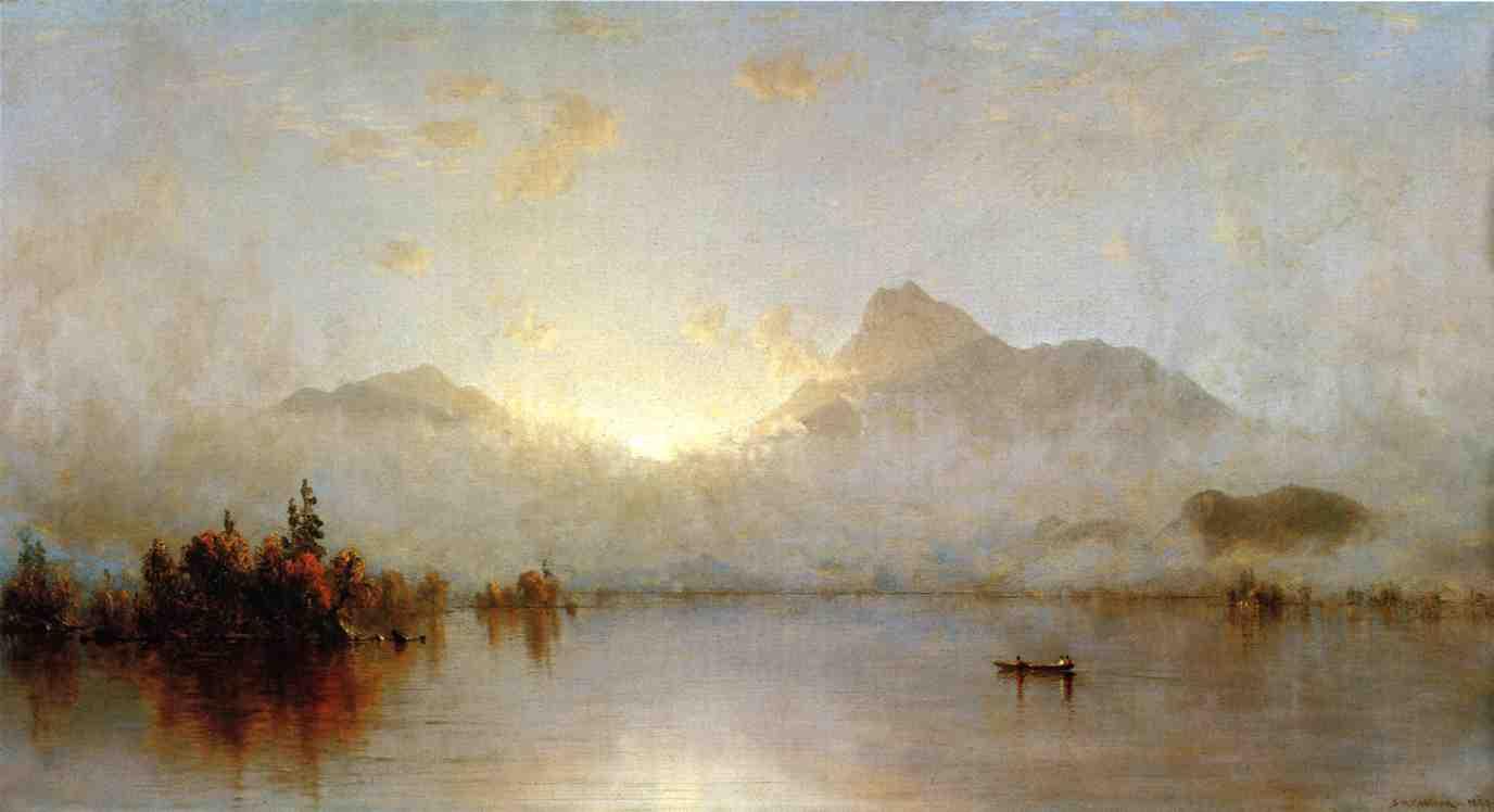 A Sunrise on Lake George 1877 1879 | Sanford Robinson Gifford | Oil Painting