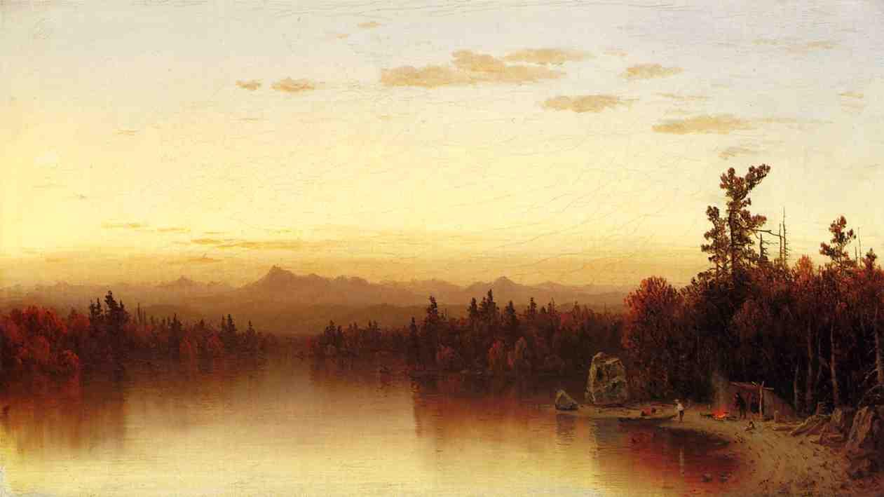 A Twilight in the Adirondacks 1864 2 | Sanford Robinson Gifford | Oil Painting