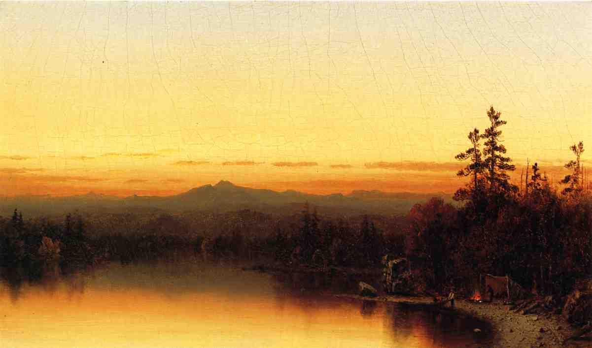 A Twilight in the Adirondacks 1864 | Sanford Robinson Gifford | Oil Painting