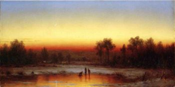 A Winter Twilight 1862 | Sanford Robinson Gifford | Oil Painting