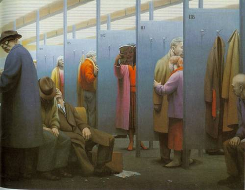 The Waiting Room | George Tooker | Oil Painting
