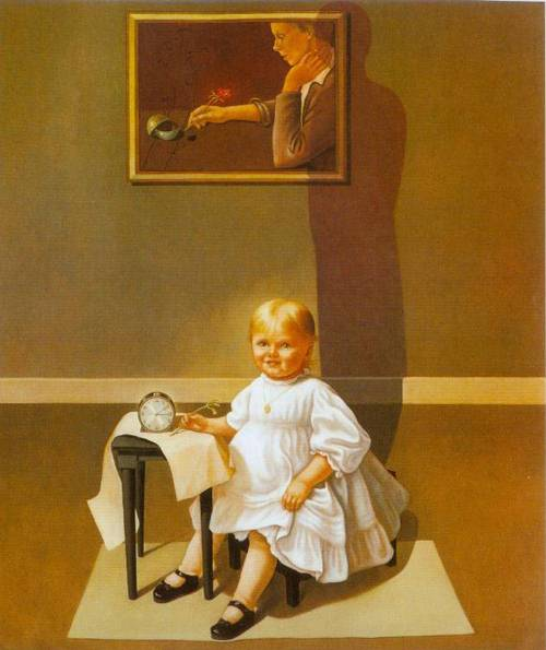 Double Portrait Of The Artist In Time 1935 | Helen Lundeberg | Oil Painting