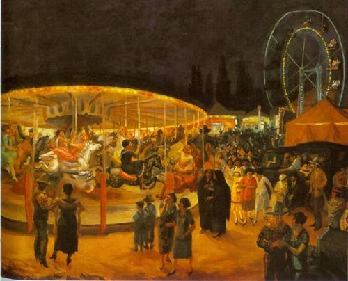 Travelling Carnival Santa Fe 1924 | John Sloan | Oil Painting
